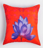 ARTychoke Red Silk 12 x 12 Inch Waterlily Cushion Cover