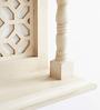 Arun Handicrafts White Solid Wood Wall Shelf