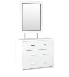 Aspen New High Gloss Dressing Table With Mirror in White Colour by HomeTown
