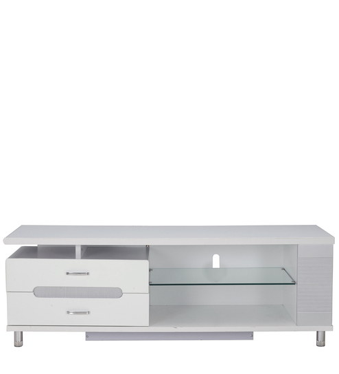 Aster Entertainment Unit In White Colour By Royal Oak