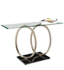 Asiab Console Table with Clear Glass Top by Durian