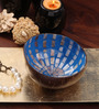 Asian Artisans Vietnamese Blue Bamboo and Lacquer Bowl
