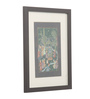 Asian Artisans Paper 11.5 x 9.5 Inch Rajasthani Pichai of King & His People Framed Painting