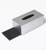 Asian Artisans Vietnamese Silver Wood with Lacquer Coating Tissue Box