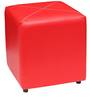 Aspen Faux Leather Pouffe in Red by Columbus First Furniture