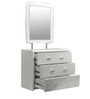 Aspen High Gloss Dresser with Mirror in White Colour by HomeTown