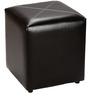 Aspen Square Pouffe in Black by Siwa Style