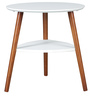 Aster Side Table in White N Walnut Colour by HomeTown