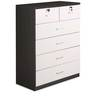 Aston Cabinet with Six Drawers in White Colour by @Home