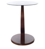 Astra Telephone Stand with Black Glass in Rosewood Finish by Royal Oak