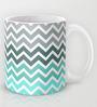 Astrode Tiffany Fade Chevron Pattern Ceramic 325 ML Mugs