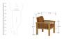 Atlantis Sofa Set in Natural Teak Finish by CasaTeak