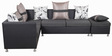 Atlas Sectional Sofa Set with Ottoman in Black Colour by Royal Oak