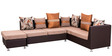 Atlas Sectional Sofa with Ottoman in Maroon Colour by Royal Oak