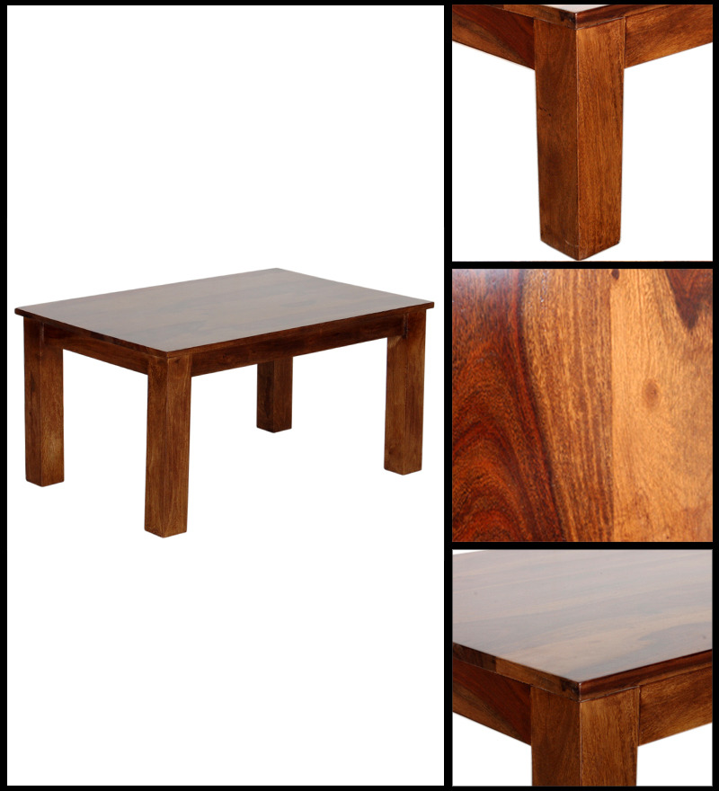 Athena Coffee Table In Provincial Teak With Melamine