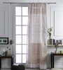 At Home White Cotton 106 x 53 Inch Door Curtain