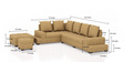 Aursen Modular Sofa with Center Table & Two Pouffes in Light Brown Colour by CasaTeak