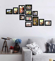 Art Street-Contemporary Black Photo Memory Wall at pepperfry