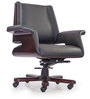 August Medium Back Chair in Black Colour by Durian