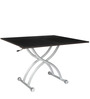 Aura Expandable Coffee cum Dining Table in Brown Colour by Gravity