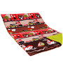 Aurraa Prted Cotton Quilt   in Red Colour