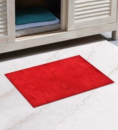 Avira Home Red Cotton Bath Mat