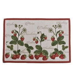 Avira Home Strawberry Multicolour Cotton & Polyester Placemats - Set Of 2