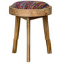 Ava Cushioned Stool in Natural Finish by Inliving
