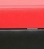 AVA Storage Ottoman in Black & Red Top by Columbus First Furniture
