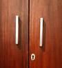 Avana Two Door Solid Wood Wardrobe in Medium Brown Colour by Godrej Interio