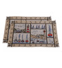 Avira Home Anchor Border Multicolour Cotton And Polyester Table Mat - Set Of 2
