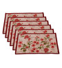 Avira Home Blossom Multicolour Cotton & Polyester Placemats - Set of 6