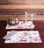 Avira Home Pink Cotton Floral Table Mat - Set of 2