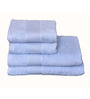 Avira Home Blue Cotton Towel - Set of 4