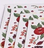 Avira Home White Cotton Fruit Celebration Table Mat - Set of 4