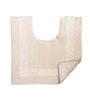 Avira Home Plain White Reversible Toilet Mat