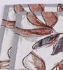 Avira Home Brown and Gray Cotton Leaf Design Table Mat - Set of 2