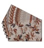 Avira Home Earthy Leaves Multicolour Cotton & Polyester Placemats - Set of 6