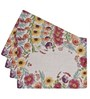 Avira Home Floral Essence Multicolour Cotton & Polyester Placemats - Set of 4