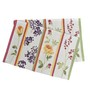 Avira Home Floral Lines Multicolour Cotton And Polyester Table Mat - Set Of 2