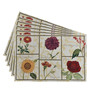 Avira Home Floral Multicolour Cotton & Polyester Placemats - Set of 6