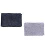 Avira Home Gray & Black Cotton 24 x 16 Inch Mat Set