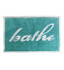 Avira Home Green and White 100% Cotton 20 x 30 Inch Bathe Style Door Mat