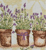 Avira Home Lavender Flower Pots Multicolour Cotton & Polyester Table Runner & Placemats - Set of 7