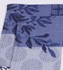Avira Home Blue Cotton Abstract Table Mat - Set of 2