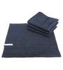 Avira Home Plush Egyptian cotton Charcoal Black Face Towel (Set of 4)