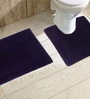 Avira Home Purple Cotton 20 x 30, 20 x 20 Bath Mat - Set of 2