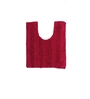Avira Home Red 100% Cotton Bath and Toilet Mat  - Set of 2