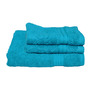 Avira Home Turquoise Cotton 3-piece Towel Set