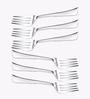 Awkenox Czar Stainless Steel Dessert Forks - Set of 6